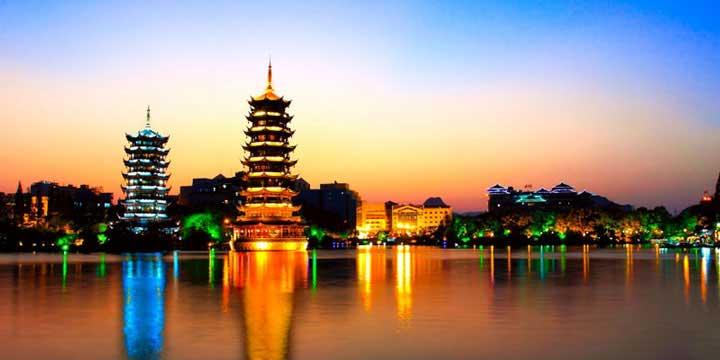 Vista sulla città di Guilin