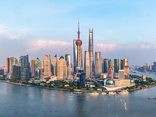 Vista della Città di Shanghai
